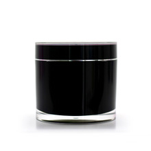 100g 200g High Quality Black Acrylic Double Wall Jar Cosmetic Container