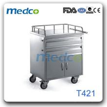 Chariot d'urgence en acier inoxydable T421