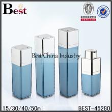 Botellas airless cuadradas de acrílico de 15ml 30ml, botellas airless directas de la fábrica y tarros muestras gratuitas proveedor de China