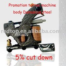 Garniture de machine à tatouer en acier Melaleuca Damas en main