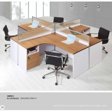 contemporary melamine government workstation 4 persons