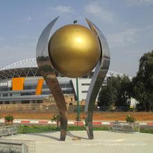 jardin grand extérieur décorer métal artisanat miroir balle sculpture