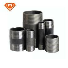 Bocal de tubo de aço carbono preto e galvanizado