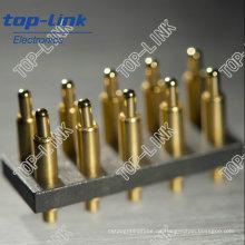 Durchgangsloch Pogo Pin Stecker mit federbelastetem 10 Kontakte