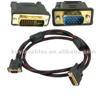 Dvi to Vga Cable DVI-I Dual Link Male to VGA 15Pin Male Cord 1.45m