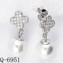 2015 Latest Styles Cultured Pearl Earrings 925 Silver (Q-6951)