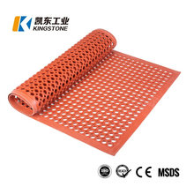 Drainage Holes Design Safety Grid Mattings Rubber Floor Mat for Kitchen Workbench