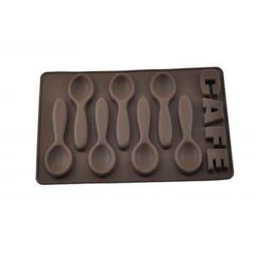 Christmas Gift Silicone Chocolate Mould in Spoon Shape