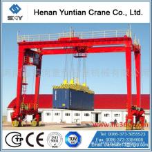 Chine Grue de levage de récipient adaptée aux besoins du client par fabricant, grue de portique de pneu en caoutchouc, chariot enjambeur