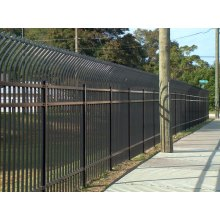 Galvanized Metal Fence With Spear Curvy Top Panels