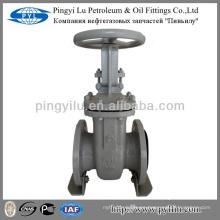 Acero al carbono rusia estándar levantamiento vástago de latón yugo tuerca de acero puerta de válvula de dibujo