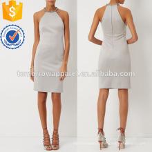 Серебро halterneck коктейль моды платье Производство Оптовая женской одежды (TA4044D)