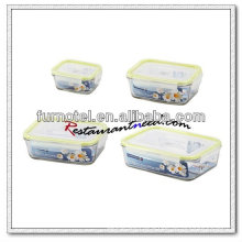 D221 Rectangle Glass Food Container