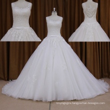 2016 Ball Wedding Dresses+Beading Long Train Lace Dress