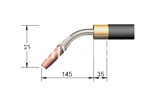 36KD Automatic 45 Bent MIG Welding Torch