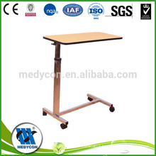 Removable over-bed table, hospital tables adjustable