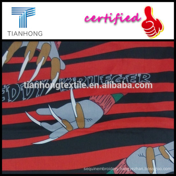 cartoon charactor freddy krueger printed on cotton twill weave silk touching cool fabric perfect for sleepdress