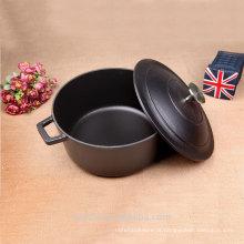 Black Matt Enameled Cookware Cast Iron Casserole Pote de cozinha