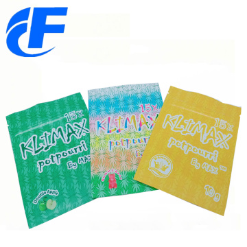 Custom printing aluminum foil three side seal bag