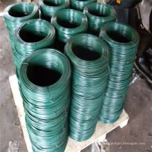 Alambre de hierro galvanizado revestido verde del PVC