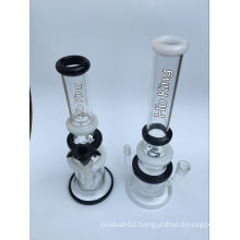 Hb-K54 Inline Perc Three Layers Ring Male and Female Joint Shape Glass Smoking Water Pipe