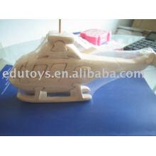 3D Puzzle Holzspielzeug - Hubschrauber