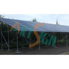 Estrutura do parque de estacionamento em aço solar