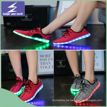 LED Running Shoes Luminous USB carga la luz de Navidad