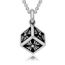 Titanium aço cubo colar de pingente de homens moda jóias