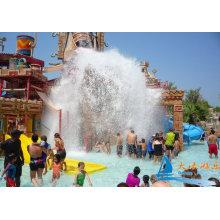 Maya Style Aqua Playground Park Equipment Include 4 Fiberglass Water Slides For Children
