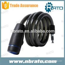 Cerradura de cable de bicicleta negra RBL-103
