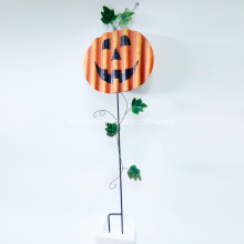 Pumpkin Halloween Metal Stake For Garden Decoration