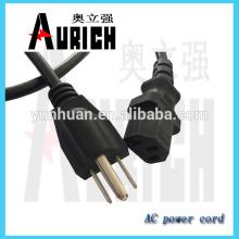125V Extension ligne câble d'alimentation avec cordon cable set