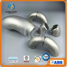 Coude industriel d'acier inoxydable avec le raccord de tuyau de PED 90d (KT0351)