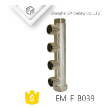 EM-F-B039 Nickel-Messing 4-Wege-Außengewinde-Verteilerrohr