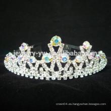 Coronas al por mayor de la princesa del rhinestone de los accesorios del pelo para los cabritos