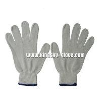 7г белой строки трикотажные рабочие перчатки-2411