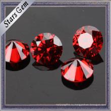 Учжоу Оптовая красивый Красный гранат CZ камень для ювелирных изделий