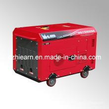 Dos Cilindros Tipo Silencioso Generador Diesel Color Rojo (DG15000SE)