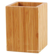 Natural Bamboo Pen or Pencil Cup for Office Accessories
