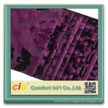 100% polyester pour le nouveau tissu de velours de jacquard de meubles de sofa