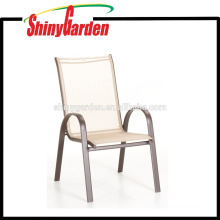 Patio Restaurant Möbel Stapeln Stapelbar Sling Stuhl Arm Stuhl Esszimmerstuhl