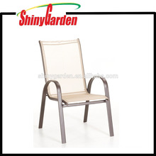 Patio Restaurant Furniture Stacking Stackable Sling Chair Arm Chair Dining Chair