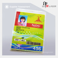 Custom Id Card Hologram Overlay with Spot UV Florescent Ink