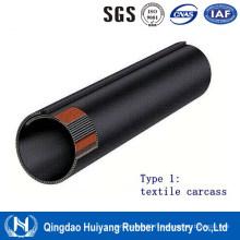 Ceinture de convoyeur tubulaire en caoutchouc pour carcasse textile