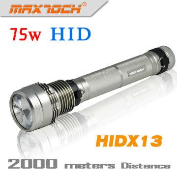 Maxtoch HIDX13 alta potencia 6800 lúmenes de largo alcance Hid 75W