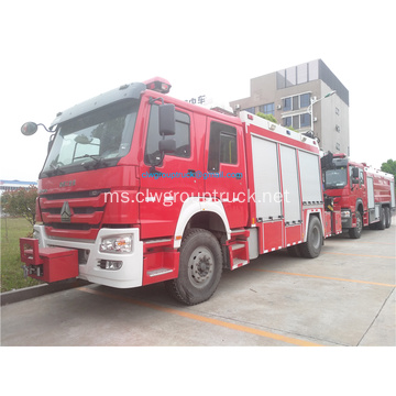 Howo 4x2 emergency fire rescue truck