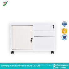 mobile pedestal storage cabinet with tambour door