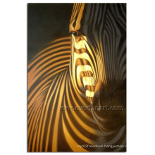 Modern Handmade Zebra Oil Painting on Canvas for Kid (AN-030)