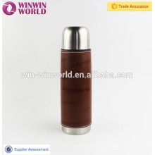 PU Leather Sleeve High Grade Double Wall Stainless Steel Thermal Mug